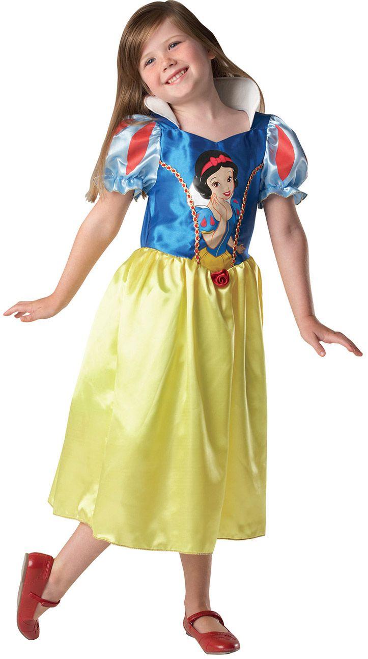 Disfraz de Blancanieves™ para niña: Este disfraz de Blancanieves™ para niñas está compuetso por un vestido (zapatos no incluidos). El vestido es amarillo y azul, con efecto satinado y una princesa impresa en la...