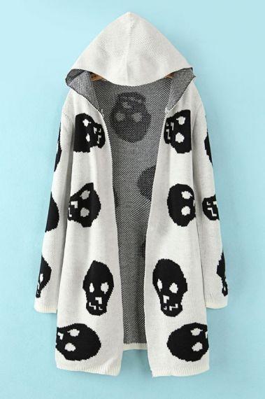 #skull #sweater #hooded
