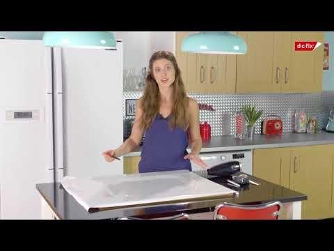 HOW TO: Montere selvklebende folie på profilerte kjøkkenskap  #kontaktplast #kjøkken #interiør #inspirasjon #kjøkkenskap #oppussing #folie