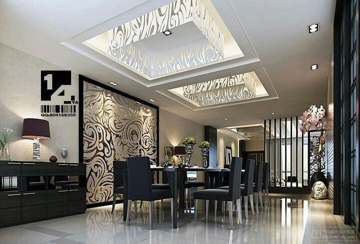 Modern luxury for upscale dining entertainment. Love. Luxury dining room
