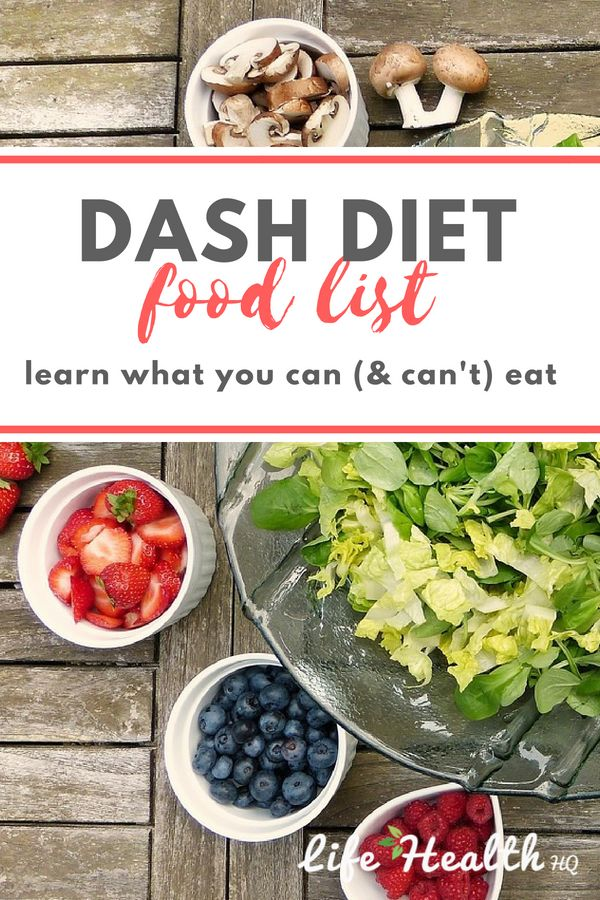DASH Diet Food List: Learn What Foods You Can & Can't Eat