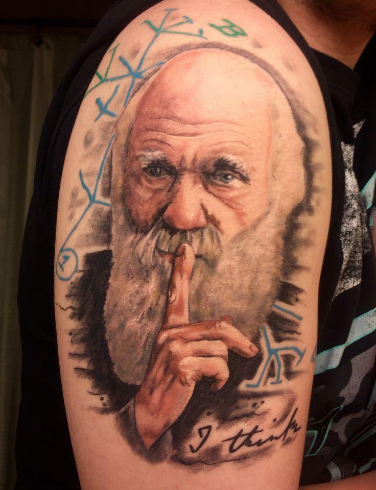 Charles Darwin Tattoo. First phylogenetic tree. I think tattoo. Science tattoo.