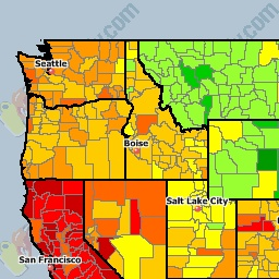 USA National Gas Price Heat Map - GasBuddy.com