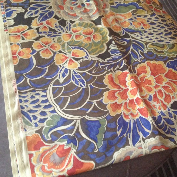Zen Garden by Waverly. I'm loving bold florals these days!! I LOVE this fabric!