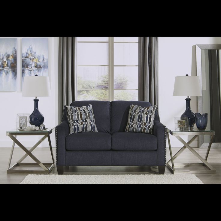 Creeal Heights Ink Loveseat Furniture Home Decor Living Room