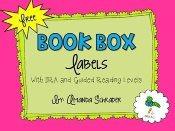Get that classroom library organized with this set of FREE book box labels.