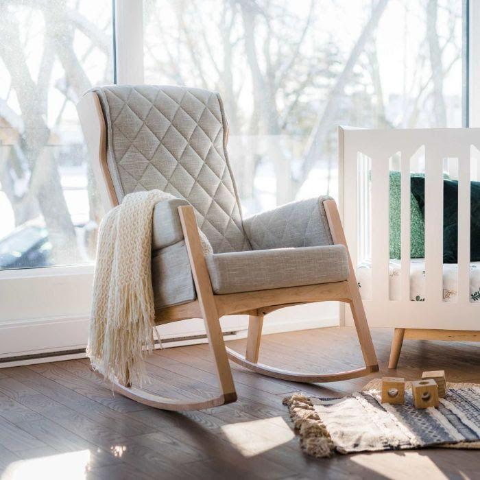 Modern Grey Rocking Chair