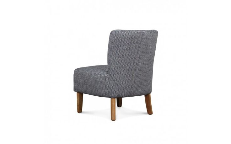 Fauteuil crapaud chauffeuse - RABEL GRIS TWEED