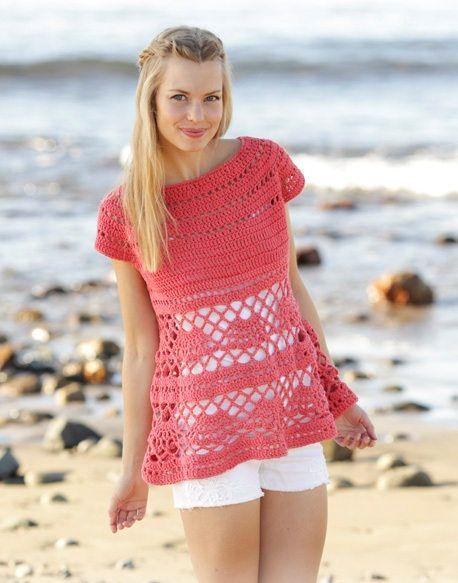 Summer top Cotton blouse Lace crop top Knit top Tank top