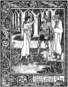 Aubrey Beardsley. Merlin, Arthur and Nimoe