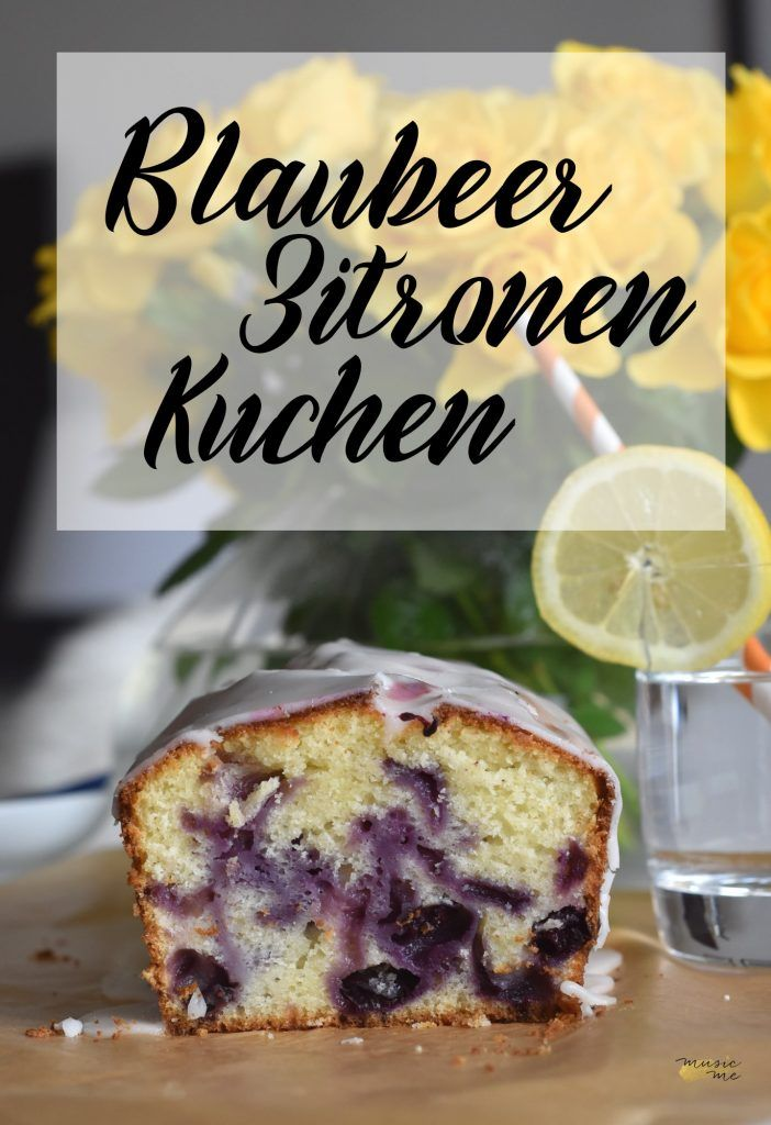 Blaubeer-Zitronen-Kuchen | Blueberray Cake for Summer, Party for Kids | music-me.de