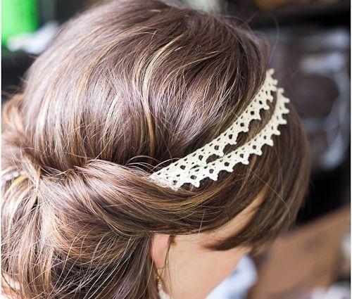 12 DIY headbands: Weddinghair, Head Bands, Idea, Wedding Hair, Lace Headbands, Boho Hairstyles, Diy Headbands, Hair Style, Updo