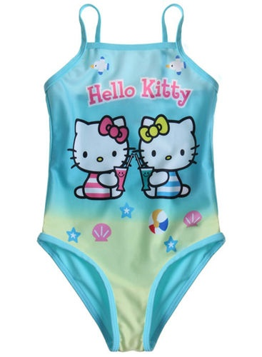 "BRAND NEW ""Official"" Hello Kitty Girls Bikini/Swimming Costume aged 4-10"