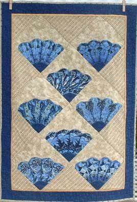 Patchwork Quilt series: Grandmother's Fan pattern ...