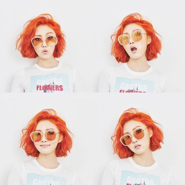 MAMAMOO Hwasa. I love her she's so beautiful! I'm considering growing out my fringe and dying my hair like hers, keeping it short of course (I'm not sure my teachers would like the colour but who cares?)