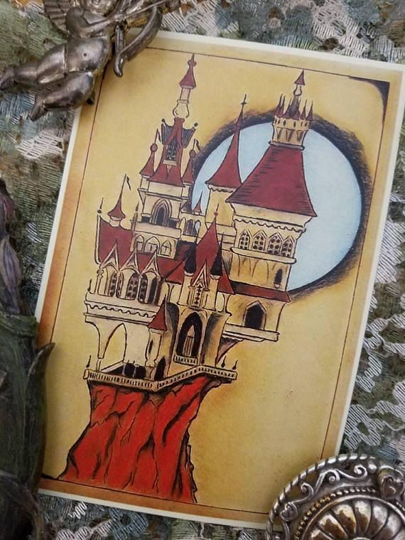 Hey, I found this really awesome Etsy listing at https://www.etsy.com/listing/581808587/castle-of-misfortunes-dark-fairytale-art