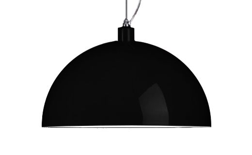 """Lámpara de colgar  """"Dome"""" metalica lacada Negro, 50 cms de diametro, alt. 30 cms.buscala en tiendas de #MueblesSur y #surdiseño"""