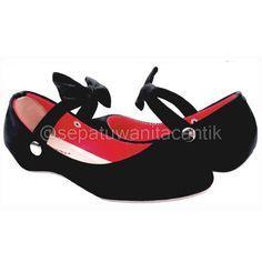 Model Sepatu Flat Shoes Wanita Cantik/SEpatu Ballet Giardino Hitam Terbaru Murah Branded GRNS182