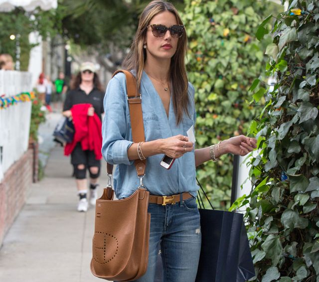 Alessandra Ambrosio carries a tan Hermes bag in LA (1), if you ...