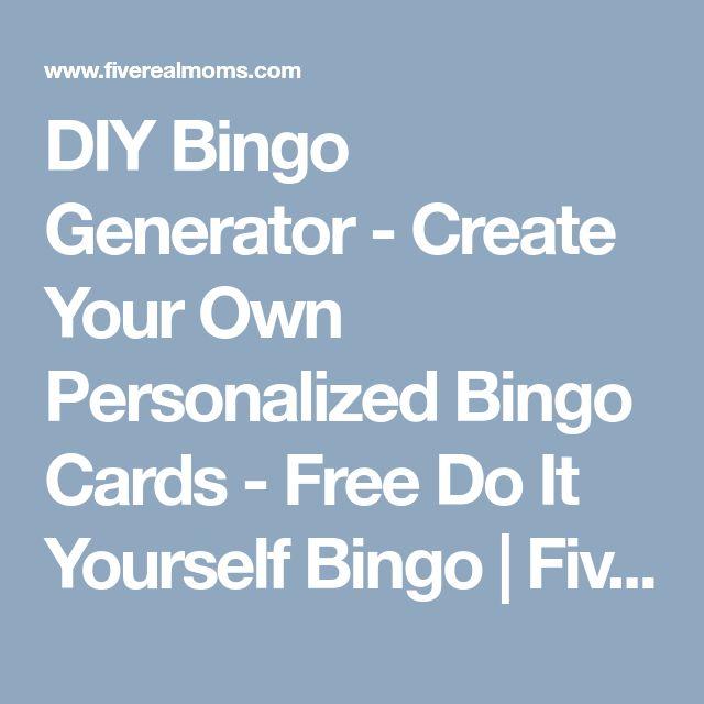 The 25 best bingo generator ideas on pinterest free bingo card diy bingo generator create your own personalized bingo cards free do it yourself bingo solutioingenieria Images