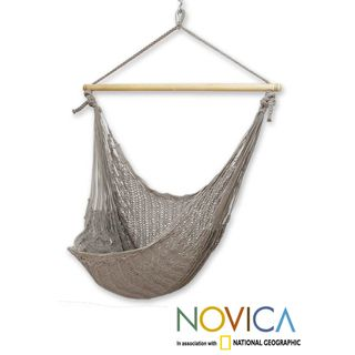 Handcrafted Cotton 'Pate' Large Deluxe Hammock Swing Chair (Mexico) - Overstock™ Shopping - Great Deals on Novica Hammocks/Swings