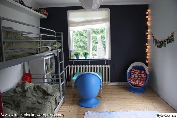 barnrum,ikea,fondvägg,pojkrum,väggtapet