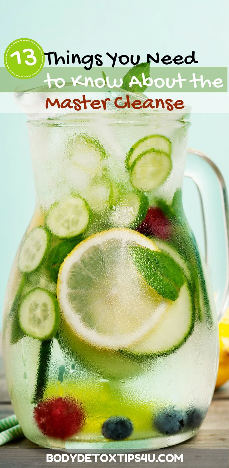 If you've been contemplating trying the Master Cleanse there are a few things ...