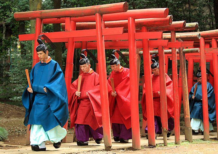 Shinto Priests, Japan