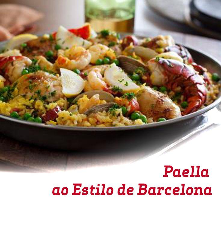 Uma viagem através dos sabores, essa paella é ideal para o fim de semana em família.