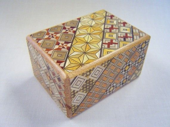Japanese Puzzle box Himitsu bako 35inch Open by 7steps by tomomaru, $31.00