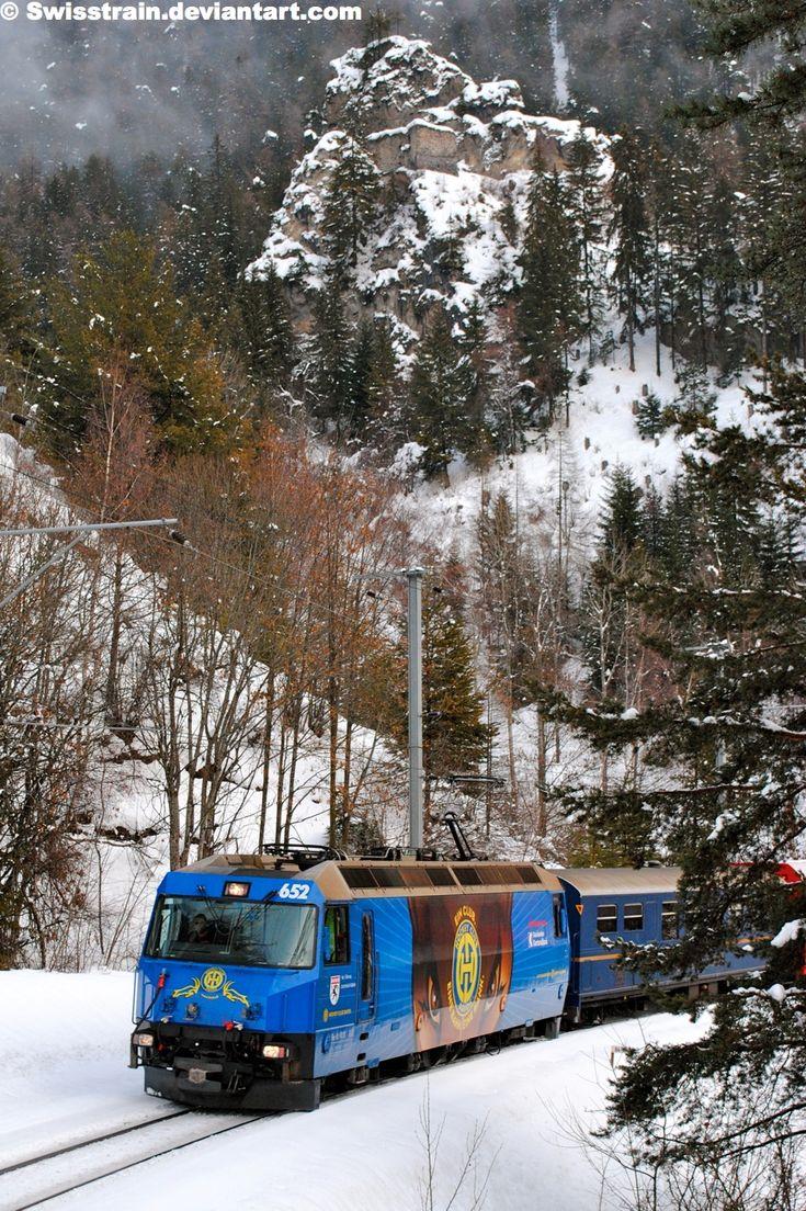 RhB Ge 4-4 III 652 - near Filisur, Canton of Graubünden, Switzerland