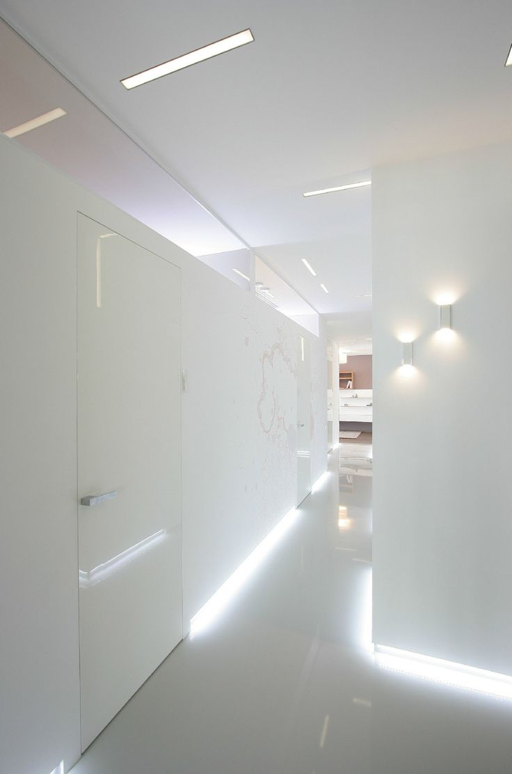 Apartments:Sweet White Hallway With Elegant Lighting With Modern Light Boxes For Apartment Decor Also Modern Apartment Ideas And Modern Apartment Design With Glowing White Interior Design Ideas For Modern Apartment Living Room Ideas Glowing white Interior Design Ideas for Modern Apartment Living Room Ideas