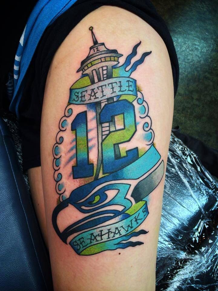 Seahawks Tattoo Designs | Seahawk tattoo! Like the look but I will never get a tattoo! @ ...