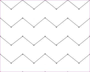How to make a chevron pattern (I would draw my dots wider apart for a thinner chevron line