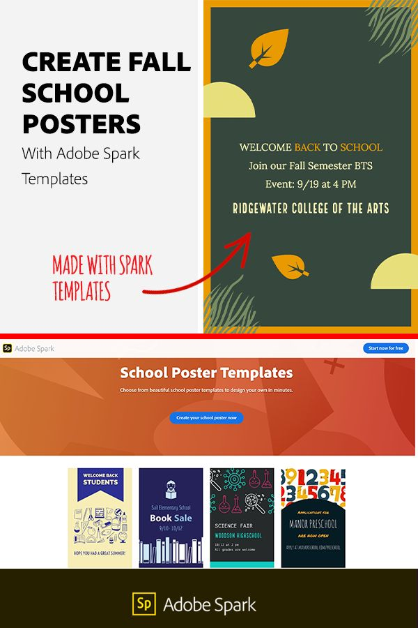 Create Fall School Posters With Adobe Spark Templates