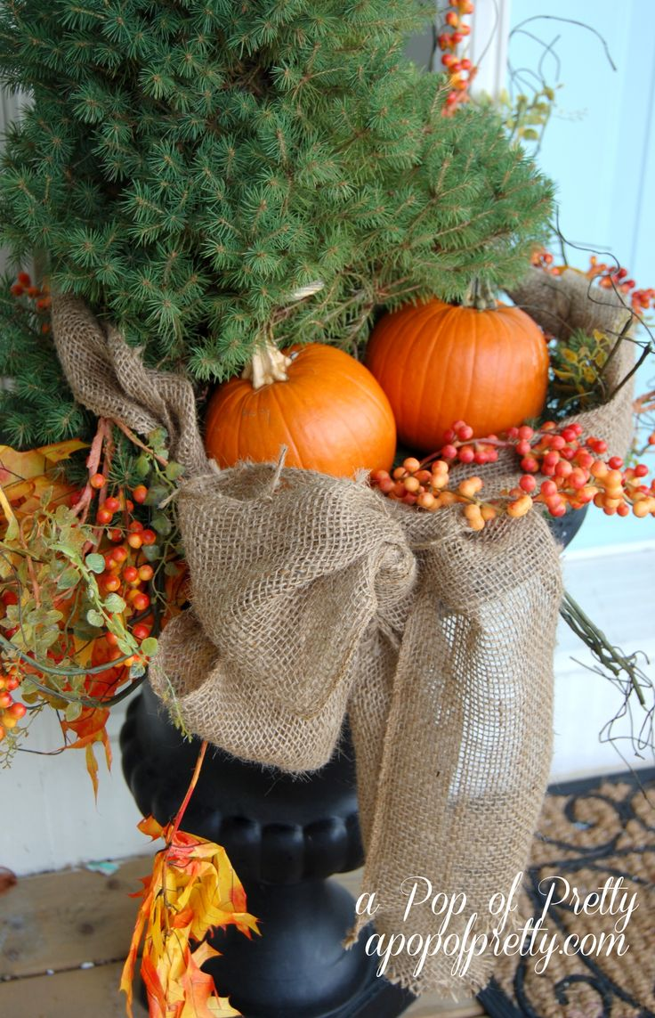 25 best images about outdoor fall decorations on pinterest for Decorating blogs canada