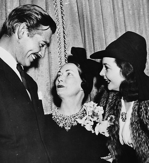Clark Gable and Vivien Leigh with Gone with the Wind author Margaret Mitchell