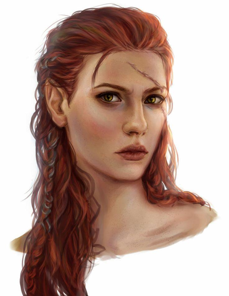 f Half Elf portrait Rhona comission by AnnaHelme on DeviantArt