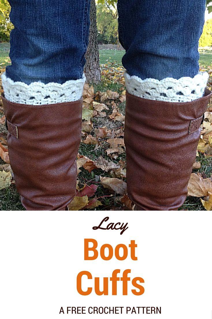 Lacy Boot Cuffs ? Free Crochet Pattern. These boot cuffs ...