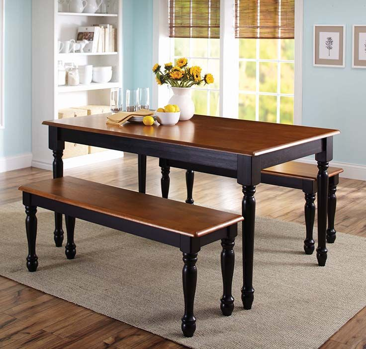 Better homes and gardens autumn lane 3 piece dining set - Better homes and gardens mercer dining table ...