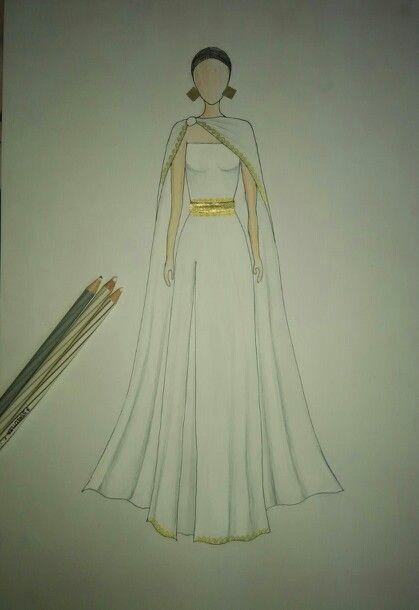 Greek inspired draped dress..