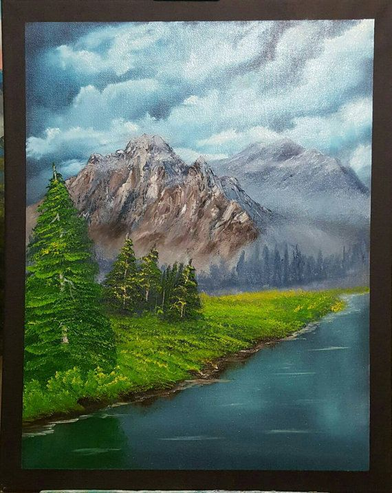 Check out this item in my Etsy shop https://www.etsy.com/au/listing/478976253/misty-mountains-landscape-oil-painting