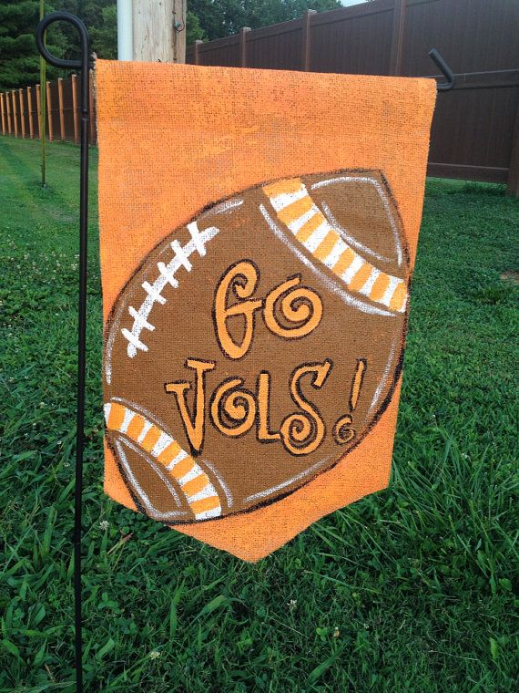 Burlap Garden Flag University of Tennessee Go Vols by Burlapulous