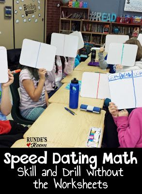 Speed Dating in Math! Love this idea!  Skill and Drill Without the Worksheets