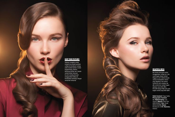 Cosmo Indonesia Hair Spread - September 2013: Pull It Off, Darling!  Photographer: Glenn Prasetya. Stylist: Arinda Christy. Stylist Asst.: Poppy Septia. Makeup: Andy Chun. Hair: Arnold. Model: Anastasia/21MM. Wardrobe: Avanava.  #CosmoIndonesia #MajorBeauty #CosmoBeauty #BeautyBible #Beauty #Hair #Hairstyle