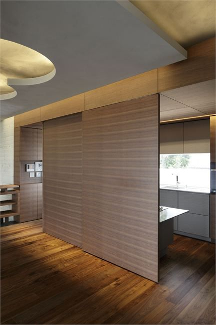 Sliding walls let you switch between private spaces and open spaces