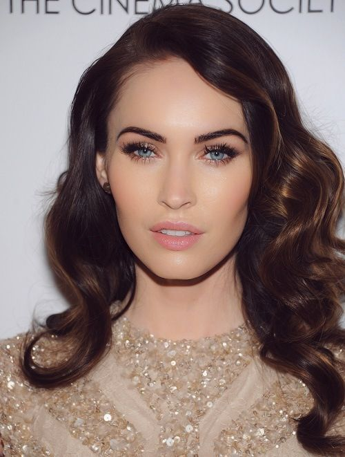 Gold and lush lashes. Megan Fox. Celebrity Inspired Wedding makeup look.