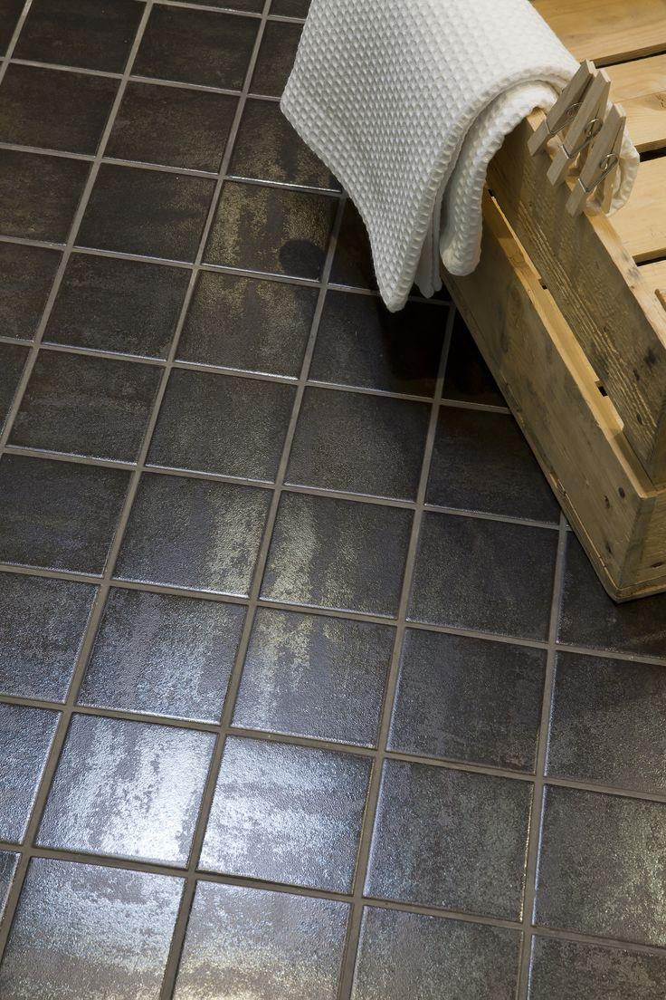 Lattialaatta Vanity Metal, musta,10x10