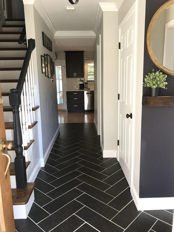 Herringbone Hallway Tiled Hallway Hallway Flooring