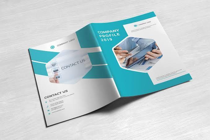 Bi Fold Business Magazine In 2020 Company Brochure Design Create Business Cards Company Profile Template